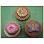 Flower, Butterfly, or Kiss Chocolate Covered Oreo Cookie