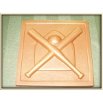 Sports - Baseball Bat and Ball Square