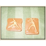 Sports - Baseball Bat and Ball Square (Small)