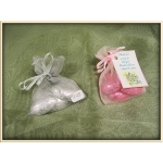 Foiled Hearts (3) in Organza Bag