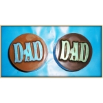 Dad Chocolate Covered Oreo Cookie