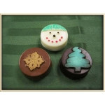 Winter Snowman, Snowflake, Tree Chocolate Covered Oreo Cookie each
