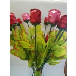 Foiled Chocolate Long Stemmed Roses